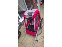 Like New Halfords Single seat bike trailer