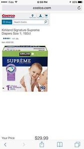 2 boxes of Kirkland size 1 diapers