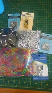 grommets, carabiners, clips