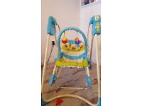 Baby swing + car seat + changing bag + cot mobile