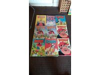 Classic The Dandy Books x 9 - Good Condition