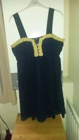 Blue dress, new with tags, size 12. Women's clothes.