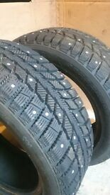 """Studded Snow Tyres 15"""""""
