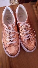 Womens gold sneakers