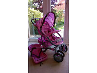 Graco Dolls buggy & baby seat, excellent condition