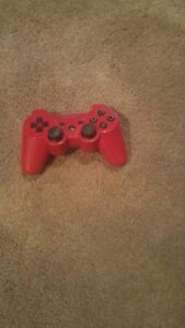 RED WIRELESS DUEL SHOCK PS3 CONTROLLER FOR SALE