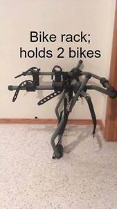Trunk mounted bike rack; holds 2 bikes