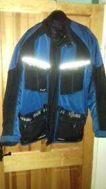textile jacket in blue