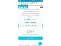 Brand new simba hybrid mattresses by John Lewis