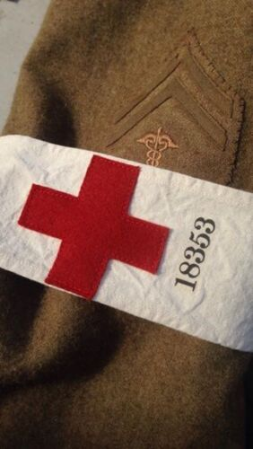 WWI U.S. Army Issue Red Cross Armband Brassard