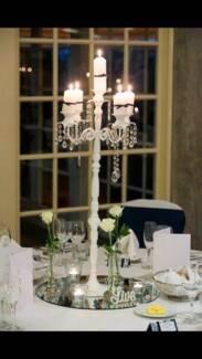 Wedding Decoration - Candelabras/glassware 8 tables