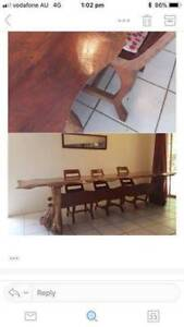 Unique Mahogany Wooden Table and Chairs