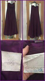 Dark Purple Bridesmaid Dress USA Size 6