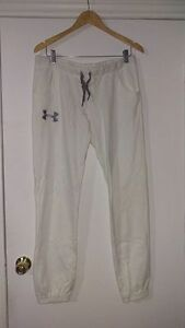 White Under Armor sweat pants