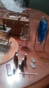 Antique exquisite miniature dollhouse furnishings LOT #2