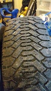 Three Goodyear Nordic tires 225/60R17