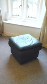 very comfortable, little used natural leather chair