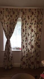 "Curtains 90"" drop i have 2 pairs the same"