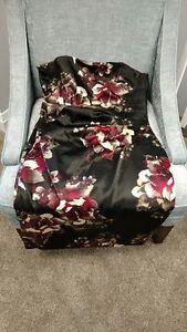 le chateau strapless silk dress