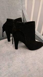 Aldo suede black booties