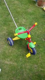 adjustable tricycle trike with parent push handle from Kettler
