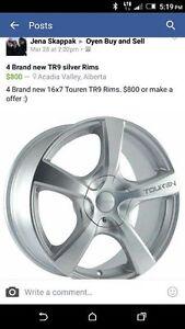 Brand new TR9 Silver Rims