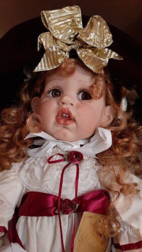"Fayzah Spanos; "" Amber "", 28"" Vinyl Doll, #270/350 1994. Precious Heirloom Dolls"