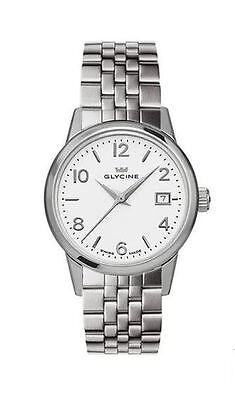 Glycine Women's 3909.11.MB Classic 28mm Silver Dial Stainless Steel Watch