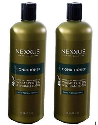 Wheat Protein Conditioner - 2 x Nexxus Sheer Frizz Resistance w/Wheat Protein & Indian Lotus Conditioner NEW