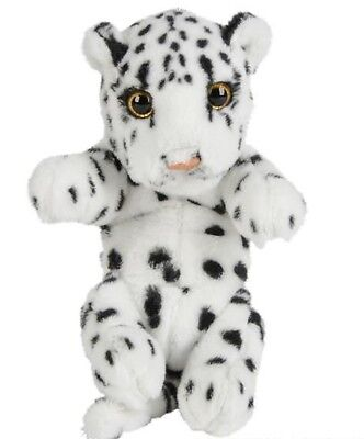 "8"" Snow Leopard Plush Stuffed Animal Jungle Cubbies Baby Cub"