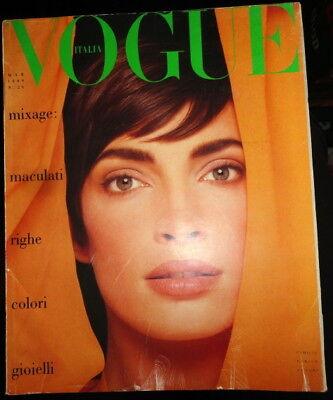 Vogue Italia 3/1989 Coco Chanel Linda Evangelista Cindy Crawford Peter Lindbergh