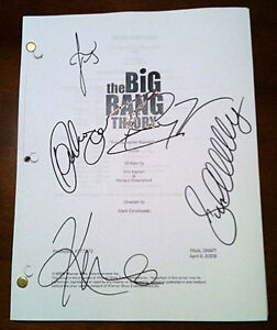 -= BIG BANG THEORY full cast AUTOGRAPHED signed SCRIPT MONOPOLAR EXPEDITION =-