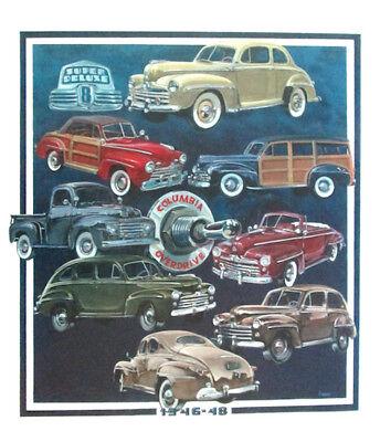 1946 - 1947 -1948 Ford Hand Drawn Illustration Poster FoMoCo