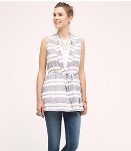 ANTHROPOLOGIE STRIPE VEST-BRAND NEW!