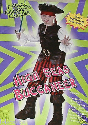 New High Seas Buccaneer Costume 2left free shipping w/buy it now