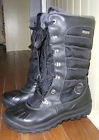 Timberland Mount Holly Tall Duck Boot Black Women's Size 8