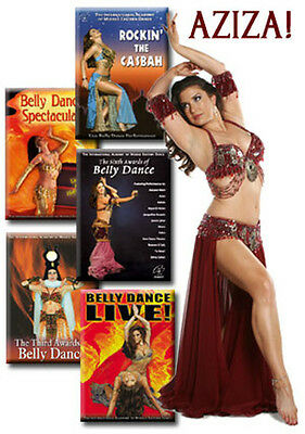 Aziza Belly Dance Show / Performance - Set of 5 DVDs / Videos for sale  Shipping to India