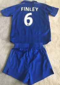 "Leicester Football Kits with ""Finley 6"" on the back"