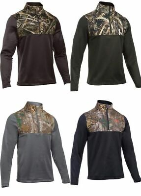 Under Armour Men's Mock Neck 1/4 Zip Camouflage Top Jacket