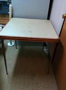 2 FOLDING TABLES, $25 AND $45 CARD TABLE