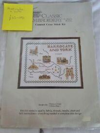 Harrogate and York cross stitch kit