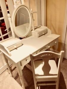Girl's Vanity with Chair