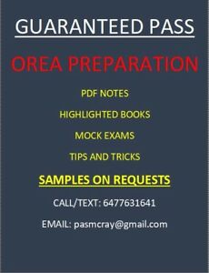 OREA REAL ESTATE COURSES 1-7: BOOKS, NOTES AND MOCK EXAMS