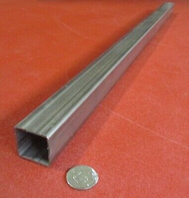 304 Stainless Steel Square Tube 1 12 Sq X .083 Wall X 36 Inch Length