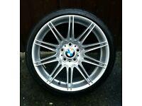 """×1 GENUINE BMW 19"""" 225M MV4 9J REAR ALLOY WHEEL STAGGERED E90, E91, E92, E93, EXC"""