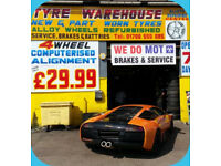 TYRE/ALLOY WHEELS/ALLOY WHEELS REFURBISHMENTS,NEW AND PART WORN, MOT/BRAKES/SERVICE/WINTER TYRES