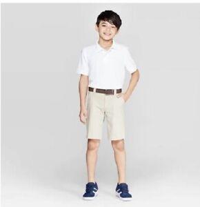 Toddler Boys/' Short Sleeve Pique Uniform Polo Shirt Cat /& Jack White 3T