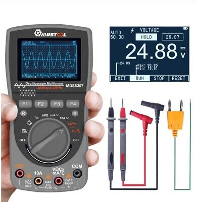 2 In 1 Digital Oscilloscope 6000 Counts True Rms Multi Meter With Analog Grap
