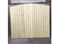 🌳HEAVY DUTY HIGH QUALITY CLOSE BOARD ARCH TOP WOODEN FENCE PANELS🌲