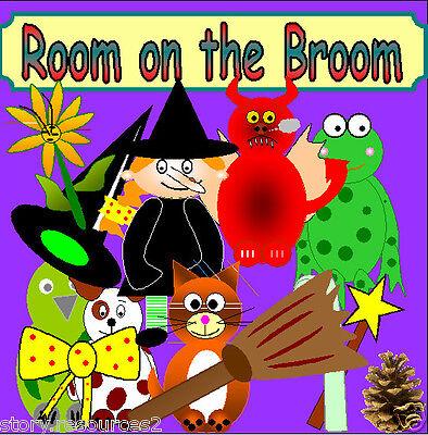 ROOM ON THE BROOM story teaching resources sack eyfs ks1 childminder resource cd